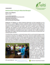 Rainforestation Training for Watershed Managers