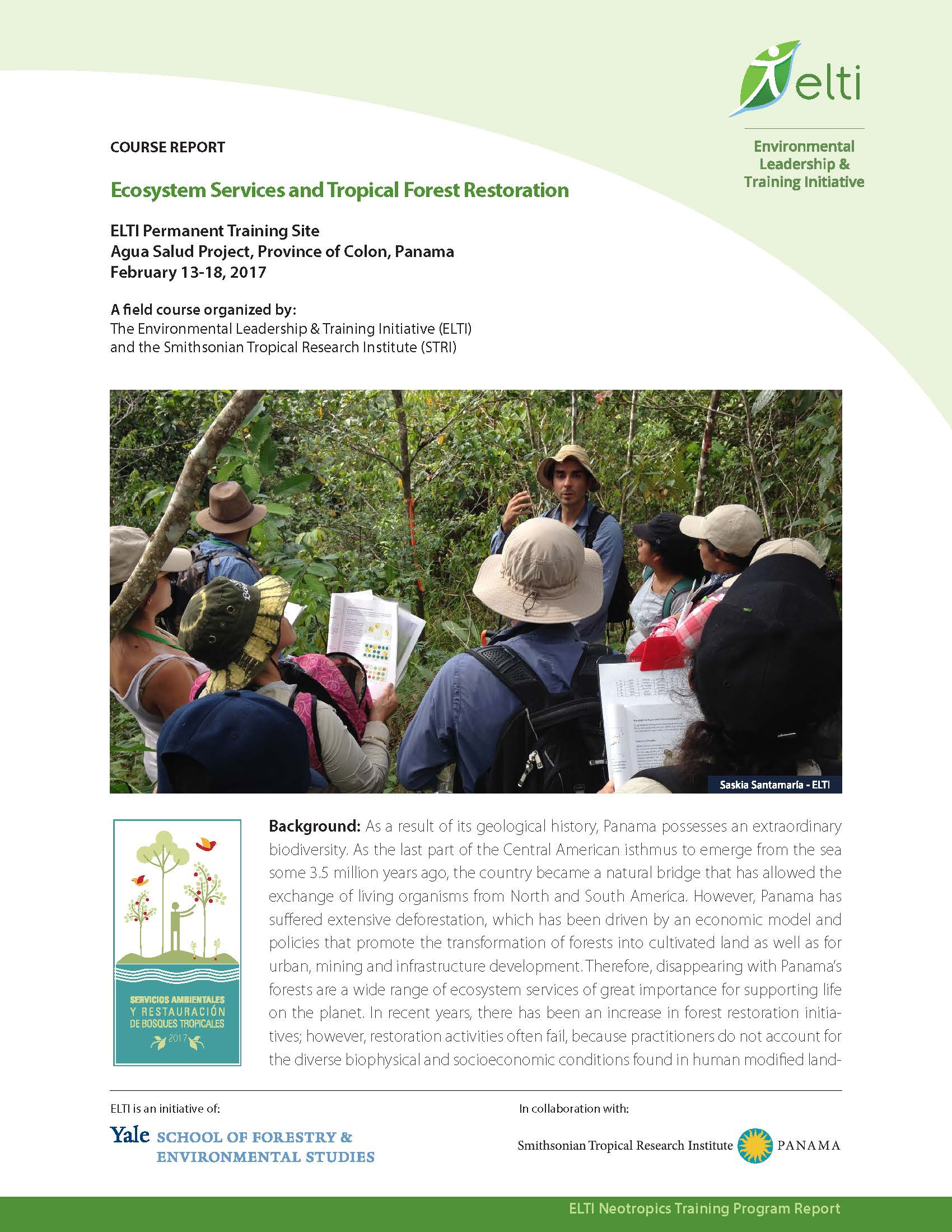 Ecosystem Services and Tropical Forest Restoration Course Report