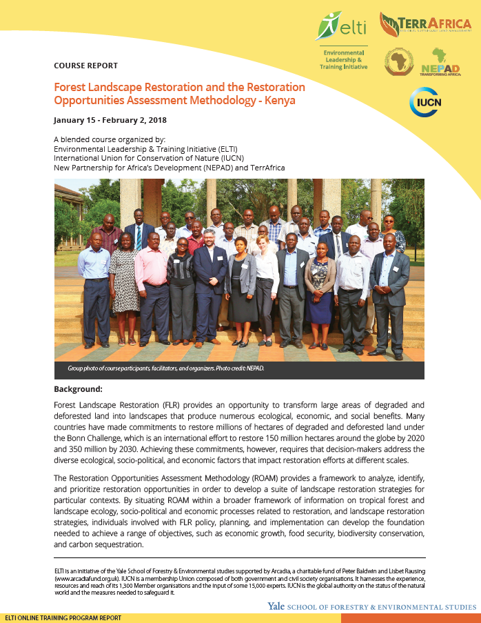 Forest Landscape Restoration and the Restoration Opportunities