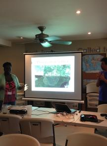 Participants learn about restoring degraded agricultural lands in Haiti.