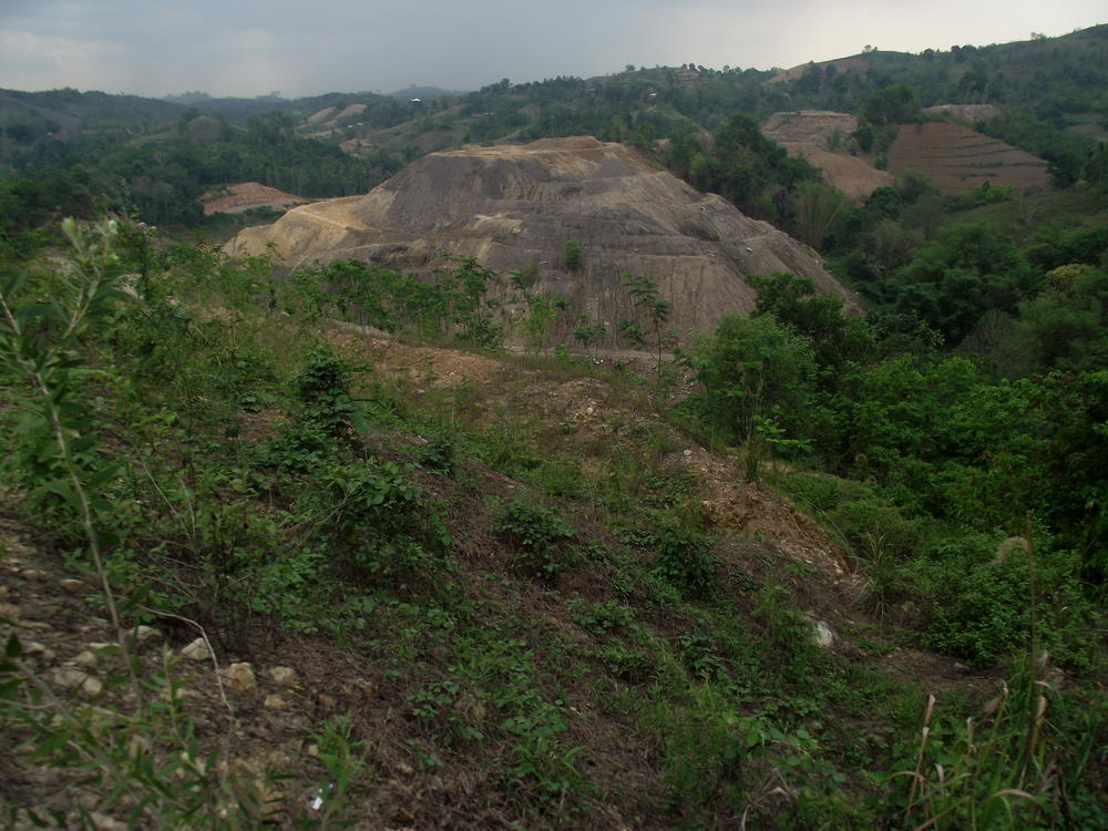 Abandoned sites of small-scale, illegal coal mining in South Kalimantan