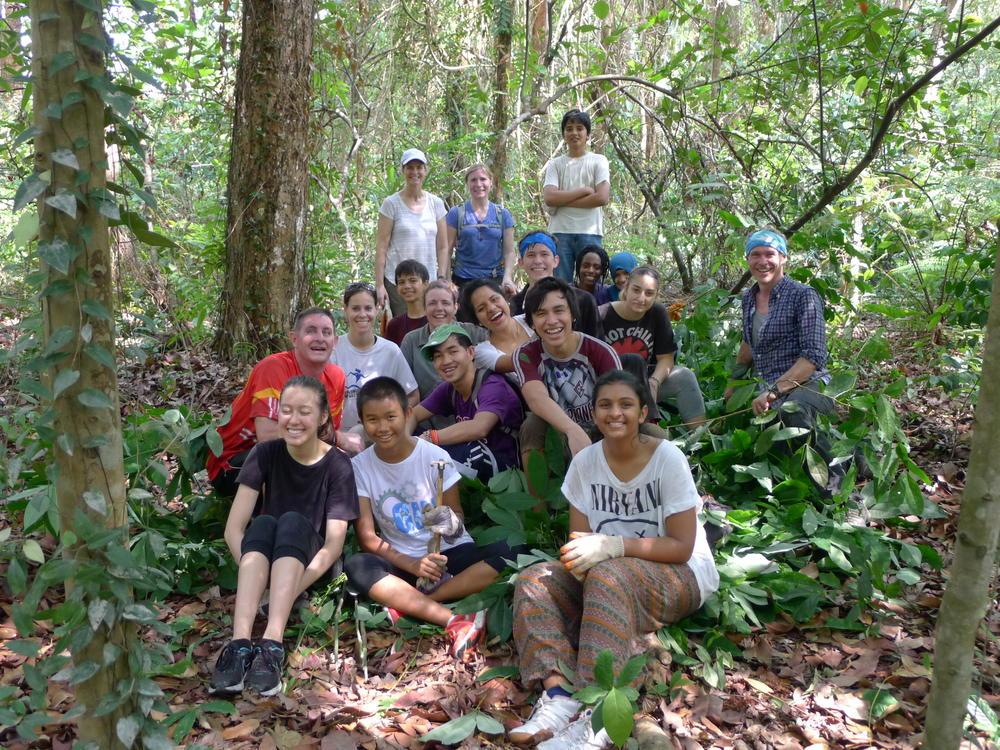 UWC group weeding at Tyersal forest