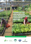 Book cover depicting people in Indonesia working in a vegetable nursery
